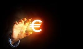 Fünf, 10 und fünfzig Eurobanknoten Lizenzfreie Stockfotos