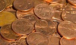 Fünf, 10 und fünfzig Eurobanknoten Lizenzfreie Stockfotografie