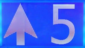Fünf und hoher digitaler Erfolg Lizenzfreies Stockbild