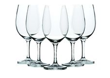 Fünf Weingläser stockbild