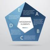 Fünfeckiges Infographic lizenzfreie abbildung