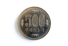 Fünfhundert japanische Yen lizenzfreie stockbilder