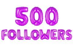 Fünfhundert Nachfolger, purpurrote Farbe Stockfotos