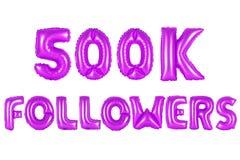 Fünfhundert tausend Nachfolger, purpurrote Farbe Stockfotos