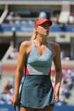 Fünfmal Grand Slam-Meister Mariya Sharapova während des dritten Rundenmatches an US Open 2014 Stockbild