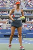 Fünfmal Grand Slam-Meister Mariya Sharapova während des dritten Rundenmatches an US Open 2014 Stockfotos