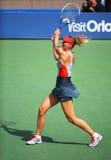 Fünfmal Grand Slam-Meister Mariya Sharapova während des dritten Rundenmatches an US Open 2014 Stockbilder