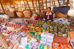 Fünftägiger Markt, Inle See Lizenzfreies Stockbild
