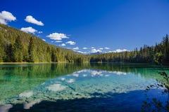 Fünfter See, Tal der 5 Seen, Jasper National Park, Alberta Stockfotos
