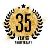 Fünfunddreißig Jahre goldene Jahrestag lizenzfreie abbildung