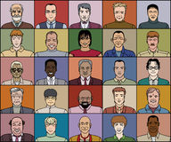 Fünfundzwanzig erwachsene Männer Stockbild