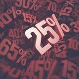 Fünfundzwanzig Prozent-Rabatt Stockbilder