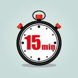 Fünfzehn-Minute-Stoppuhr Stockfotos