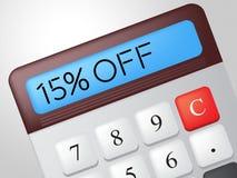 Fünfzehn Prozent weg weg den Durchschnitt-Einsparungen billig und von den Rabatten lizenzfreie abbildung