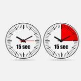 Fünfzehn Sekunden-Uhr stock abbildung