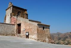 Fünfzehnte Jahrhundertkirche, Alora, Andalusien, Spanien. Stockbilder