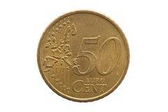 Fünfzig-Cent-Euromünze stockbilder