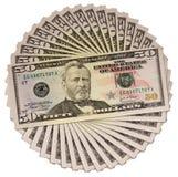 Fünfzig Dollar Lizenzfreies Stockbild
