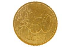 Fünfzig-Eurocent-Münze Stockfotografie