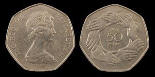 Fünfzig Pennys Stockfoto