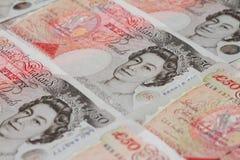 Fünfzig Pfund-Anmerkung Lizenzfreies Stockfoto