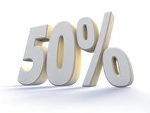 Fünfzig Prozent lizenzfreie abbildung