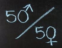 Fünfzig-Prozent-Konzept Lizenzfreie Stockfotos