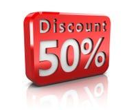 Fünfzig-Prozent-Rabatt Lizenzfreie Stockfotos