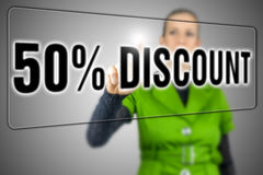 Fünfzig-Prozent-Rabatt Lizenzfreie Stockfotografie