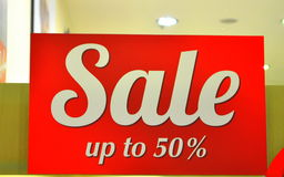 Fünfzig-Prozent-Verkauf Stockfotografie