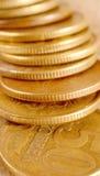 Fünfzig-russischer Cent-Stapel stockfoto