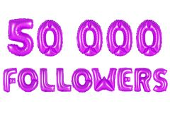 Fünfzig tausend Nachfolger, purpurrote Farbe Stockbild