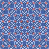 fünfziger Jahre reden Retro- keltischen Knoten-Kreis anreden nahtloses Vektor-Muster an stock abbildung