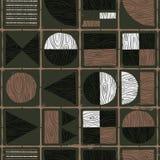 fünfziger Jahre Retro- Mitte- des Jahrhundertsnahtloses Muster vektor abbildung