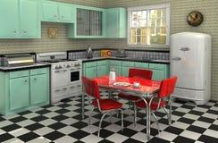 Fünfzigerjahre Küche Stockfoto