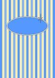 Fünfzigerjahre Retro- Blaubeeren u. Sahnesüßigkeit-Streifen vektor abbildung