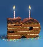 Fünfzigster Geburtstag oder Jahrestag des Geburtstagkuchens Lizenzfreies Stockfoto