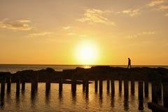 Ein Tag durch den Strand Stockbilder