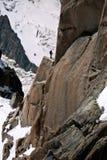 Für den Aufstieg sich vorbereiten - Chamonix, Frankreich lizenzfreie stockfotografie