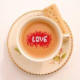 Für die Liebe des Tees Stockbilder