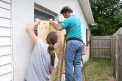 Für Hurrikan zusammen sich vorbereiten lizenzfreies stockfoto