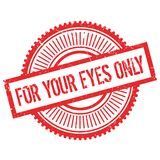 Für Ihren Stempel der Augen nur stock abbildung