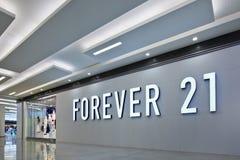 Für immer 21 Ausgang, Livat-Einkaufszentrum, Peking, China Stockfotografie