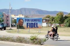 Für immer Fidel, Santiago-Straßenansicht lizenzfreie stockbilder