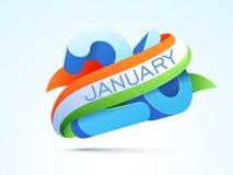 Für indische Tag der Republik-Feier Lizenzfreie Stockbilder