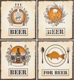 Für Menü mit Bier Lizenzfreie Abbildung