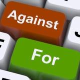 Für oder gegen Schlüssel zeigen Sie Pro - und - Betrug Lizenzfreies Stockbild
