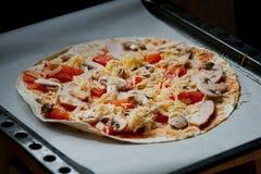 Für Pizzaliebhaber Stockfotografie