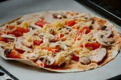 Für Pizzaliebhaber Stockbilder
