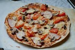 Für Pizzaliebhaber Stockfotos